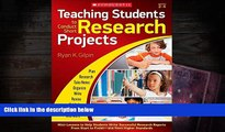 PDF  Teaching Students to Conduct Short Research Projects: Mini-Lessons to Help Students Write