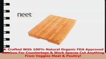 Neet Organic Bamboo Butcher Cutting Block  Serving Tray Thick  Solid BCB900 d8298c94