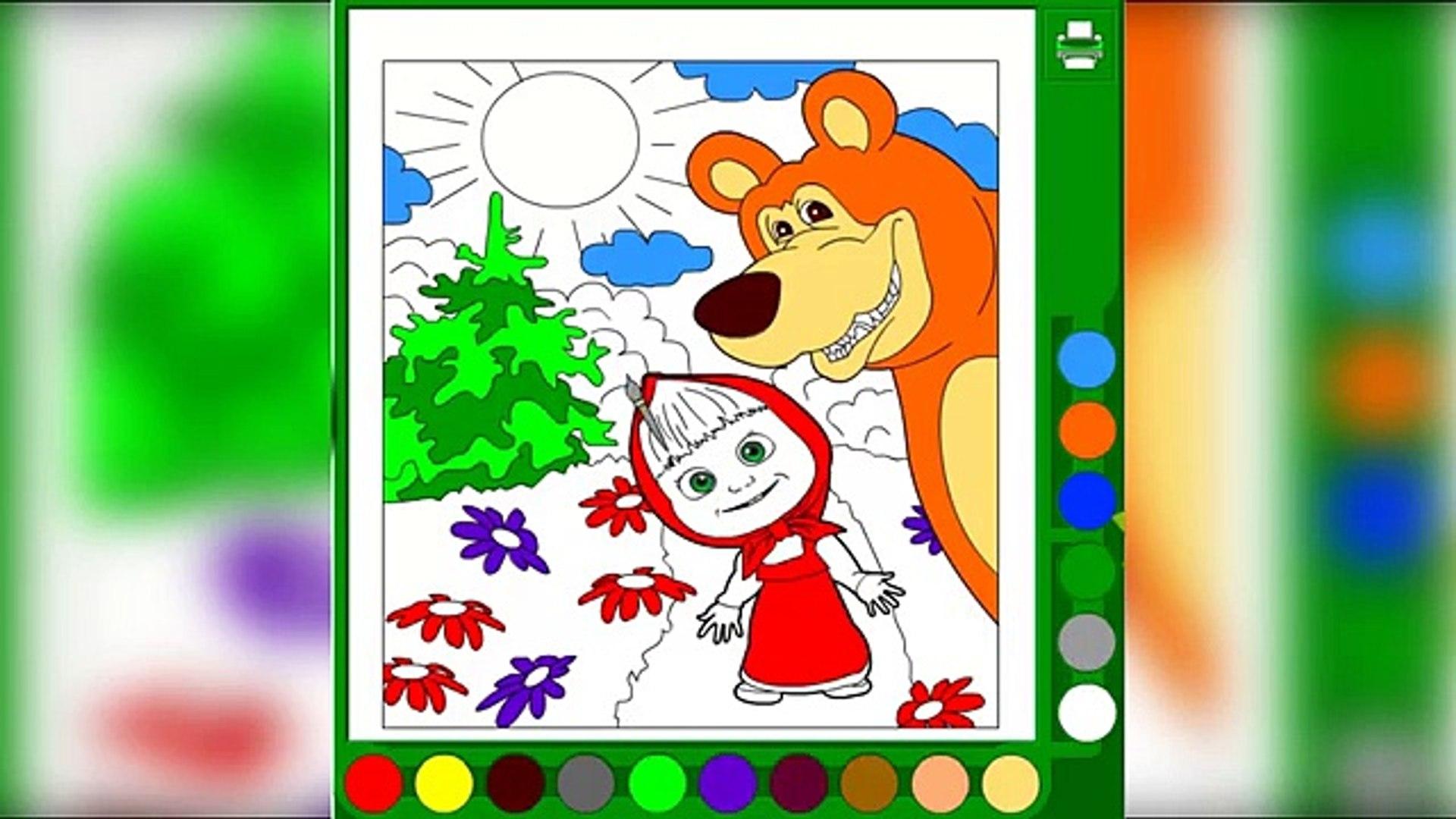 МАША И МЕДВЕДЬ #раскраска 13 MASHA AND THE BEAR