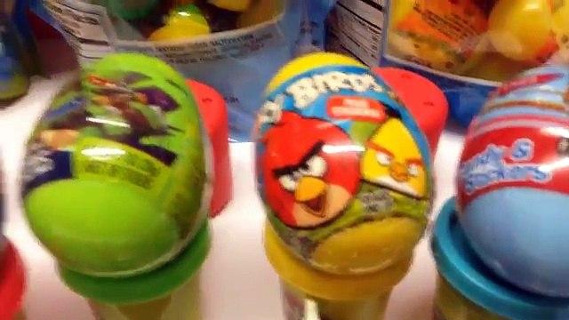 Angry Birds Surprise Eggs Spongbebob Surprise Eggs Disney Planes Surprise Eggs TNMT Surprise Eggs