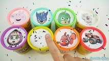 Fun Way to Learn Color for Toddlers + Paw Patrol, PJ Masks, Masha the Bear, Peppa Pig Playdoh Eggs