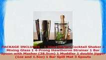 TeiKis 10 Piece Boston Cocktail Shaker Bartending Set Complete Bar Accessories Set with 9632a4a1