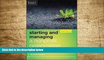 READ book Starting and Managing a Nonprofit Organization: A Legal Guide Bruce R. Hopkins Trial Ebook