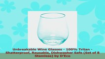 Unbreakable Wine Glasses  100 Tritan  Shatterproof Reusable Dishwasher Safe Set of 8 f6e1f2e2