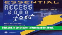Full Book Download Essential Access 2000 fast: How to create databases using Access 2000