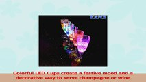YANX 6 Pack LED Wine Champagne Flutes Light Up Glasses Flashing Cups LED Liquid Activated c38fd52a