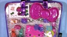 Hello Kitty Beauty Bag! Cosmetics! Nail Polish Lip Gloss Lip Balm! Minnie Lip Smacker! SHOPKINS