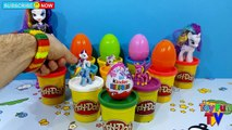 My Little Pony Surprise eggs Kinder Surprise Egg Play Doh Surprise Toys Rainbow Dash