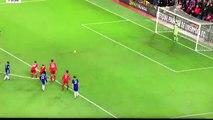 Le portier belge a détourné le tir au but de Diego Costa