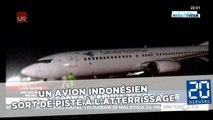 Un avion indonésien sort de piste à l'atterrissage