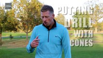Golf Instruction Tips: Putting drills with cones #13