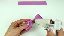 How To Make A Hair Bow I No sew Hair Bow I DIY Easy Bow-upO4FXd7Fmc