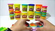 Fun Play Doh Rainbow Colors Shape Mold Nursery Rhymes for Kids Toddlers Preschoolers