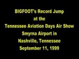 Big Foot Jump Over Boeing 727