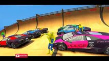 COLORS CARS POLICE LAMBORGHINI & COLORS SPIDERMAN & Nursery Rhymes Songs for Children