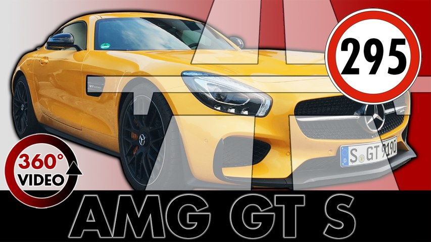 Mercedes-AMG GT S Coupe | V8 Biturbo | Autobahn | Test Drive & Review | 360 degree | VR Video | Cars