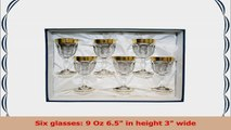 Italian Collection Provenza 9 Oz Crystal Wine Goblets Glasses 24K Greek Key GoldPlated a8987a54