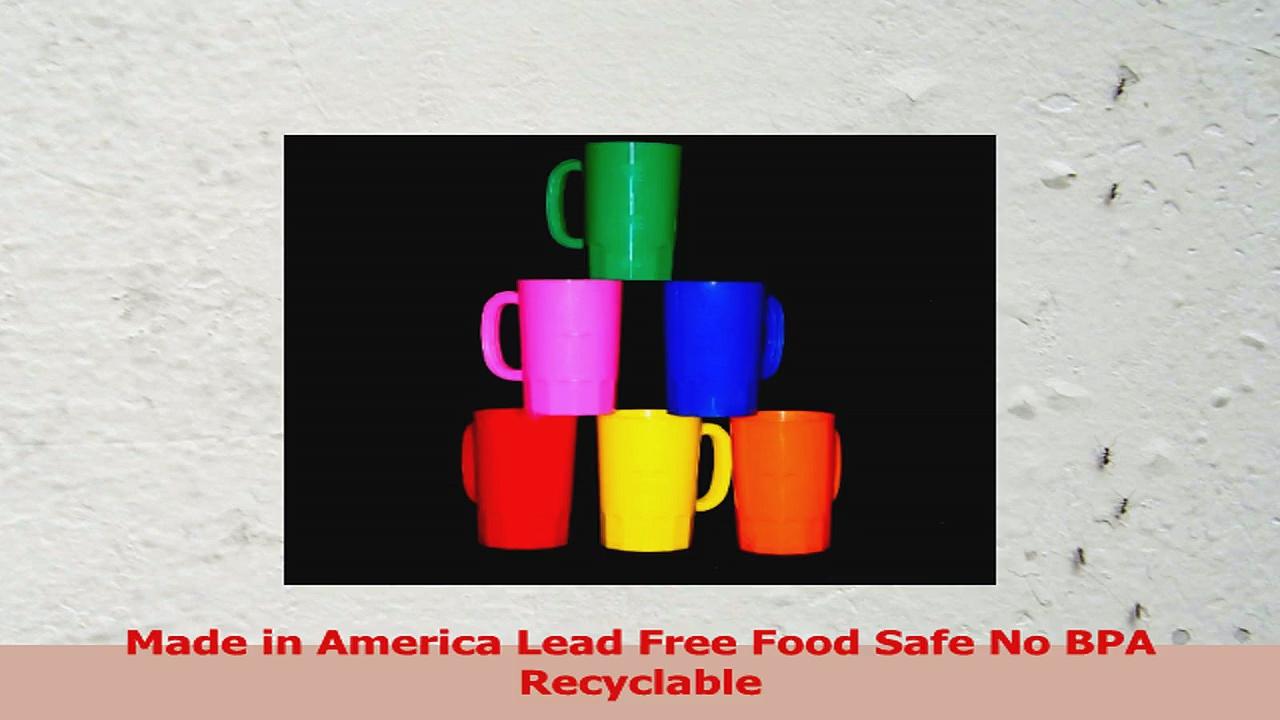Talisman Plastic Beer Mugs Large 32 Ounce Pack 6 Color Multi 09518658