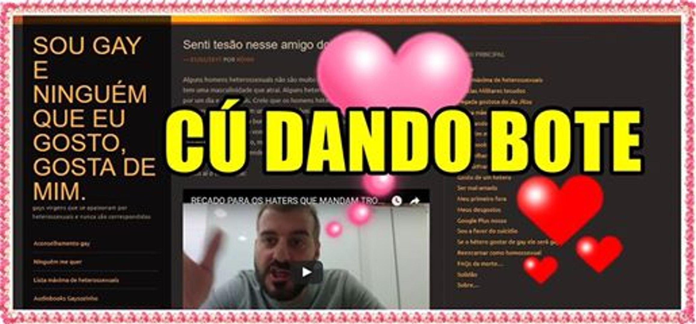 FÃ GAY ESTÁ COM O CÚ DANDO BOTE