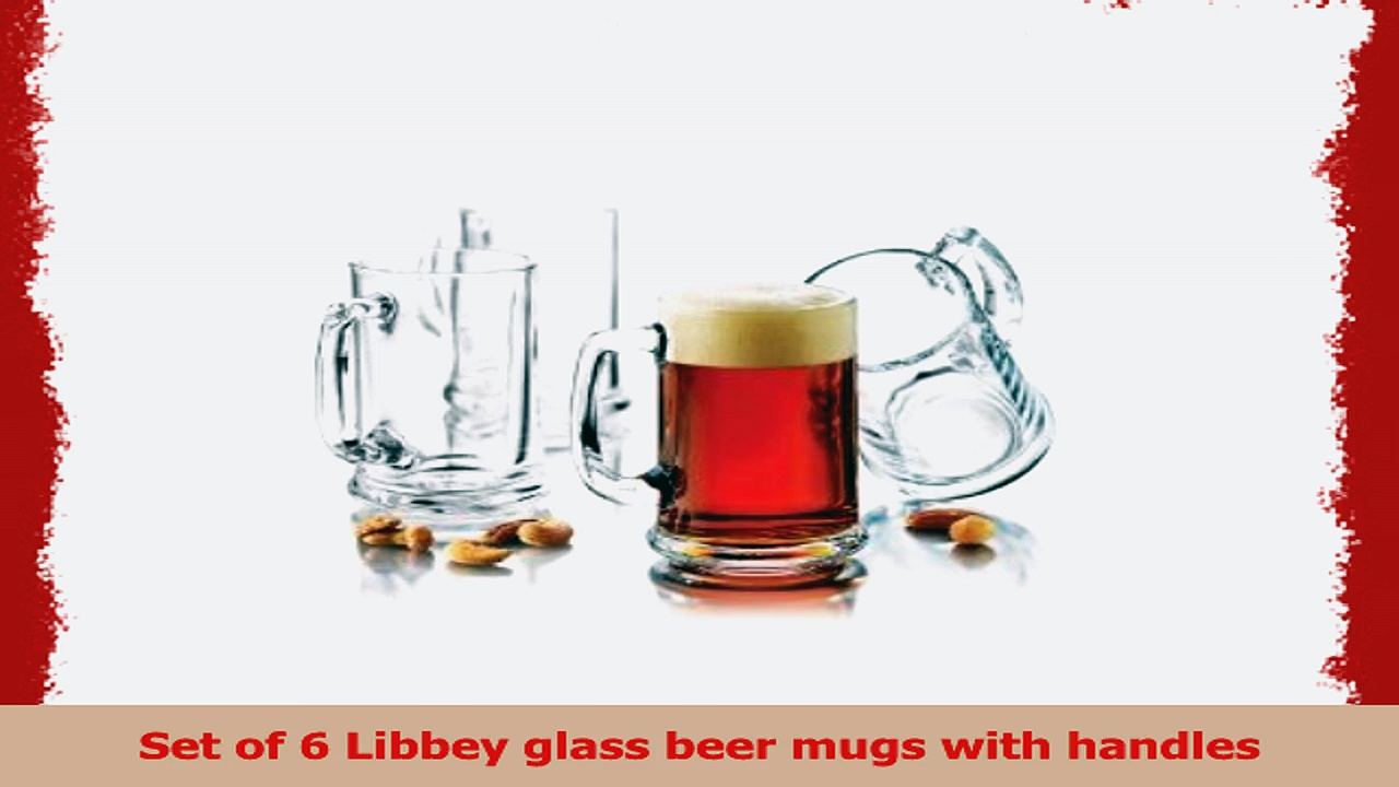 Traditional Elegant Glass Beer Mugs Set of 6 1a883830