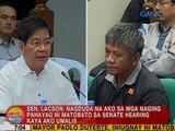 Sen. Lacson: Nagduda na ako sa mga naging pahayag ni Matobato sa hearing kaya ako umalis
