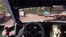 Piloter sa voiture avec son pied et une main dans Dirt Rally Hill Climb - Jeu video