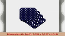 3dRose LLC cst246852 Navy Blue and White Polka Dot Print Soft Coasters Set of 8 86deb93e