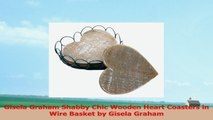 Gisela Graham Shabby Chic Wooden Heart Coasters in Wire Basket by Gisela Graham 0c9dfb02