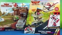 Disney PLANES Fire and Rescue Control Tower - Dusty Crophopper Rescue Airplane Toys For Boys