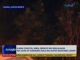 Saksi: Ilang coastal area, binayo ng malalakas na ulan at hanging dala ng Super Bagyong Lawin