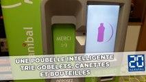 Recyclage: Une poubelle intelligente trie gobelets, canettes et bouteilles