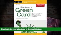 [Download]  How to Get a Green Card Ilona Bray JD For Kindle
