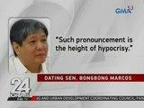 24 Oras: Dating Sen. Bongbong Marcos: Lumabas na ang tunay na kulay ni VP Leni Robredo