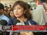 VP Leni Robredo, umaasang makakausap si Pres. Duterte matapos niyang magbitiw bilang chair ng HUDCC