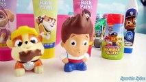 PAW PATROL Slime Poop Toilet Toy Hunt Surprises, Skye, Chase, Ryder Bath Paint Shark Attack
