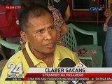 Mga pa-Visayas at Mindanao, stranded dahil naiipit daw sa masamang panahon ang mga bus