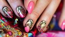 Tuto nail art dégradé, gouttes et plumes, envie d'été !-qqs2Wgz2zFA