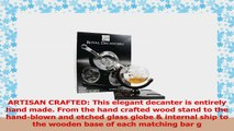 Etched Globe Whiskey Decanter Set  4 Glasses  Large Glass Beverage Bar Drink Dispenser ac011787