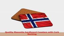 Rikki Knight Norway Flag Design Square Beer Coasters 9c893b37