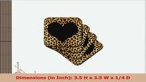 3dRose cst203942 Punk Rockabilly Cheetah Animal Print Heart Soft Coasters Black Set of 8 06401af9