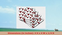 Lee Hiller Designs RAB Rockabilly  Deep Red Cherries on white  set of 8 Ceramic Tile 761cfac4
