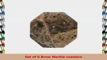 Brown Marble Coaster a set of 6 Octagonal stone Coasters for your bar and home drinks d16d9ca7