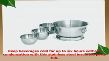 Artisan Double Wall Stainless Steel Beverage Chiller Ice Tub 17Quart Capacity a4404f3b