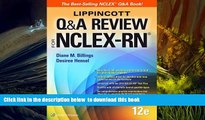 FREE [DOWNLOAD] Lippincott Q A Review for NCLEX-RN (Lippioncott s Review for Nclex-Rn) Diane