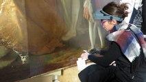 """VIDEO. Amboise : """" La mort de Léonard de Vinci"""", tableau restauré à Paris."""