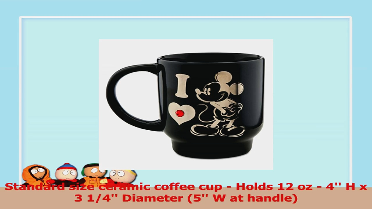 Disney I Love Mickey Mouse Coffee  Tea Mug Black with Red Jewel f6aad770