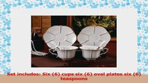 Jusalpha Porcelain Tea Cup and Saucer Coffee Cup Set with Saucer and Spoon FDTCS08 Set 3b41aef5