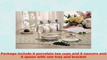 Porcelain Tea Cup and Saucer Coffee Cup Set with Saucer and Spoon 20 pc Set of 6 62a7494a