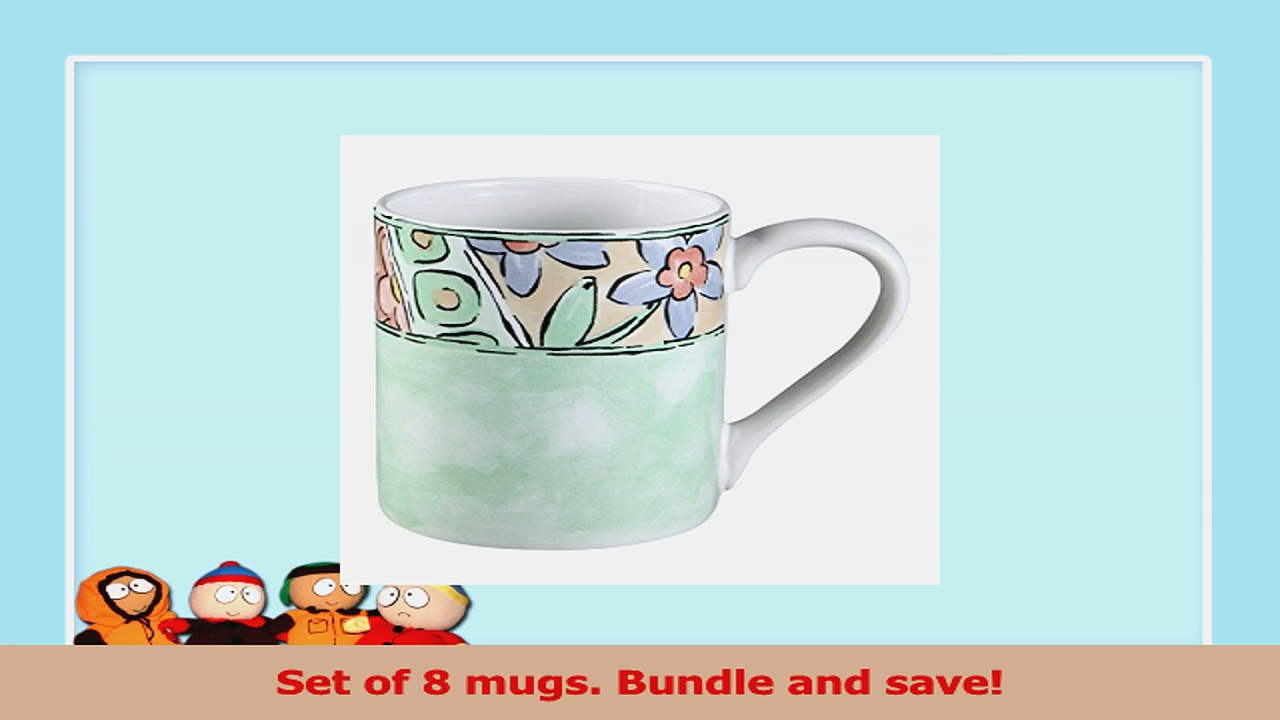 Corelle Impressions Watercolors 11Oz Stoneware Mug Set of 8 41a06d68