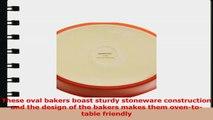 Rachael Ray Stoneware 114Quart and 214Quart Oval Bubble  Brown Baker Set Green fd2fec83